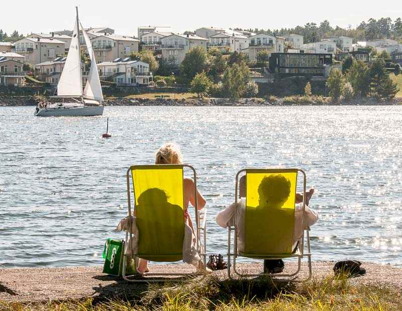 Supersommardag på ön